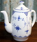 Furnivals Limited Denmark Blue  White Coffeepot Coffee Pot Tea England Lace
