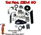 Facebook SALE ZEDA 80 silver 66 80cc Bicycle Engine Kit for Motorized Bicycle