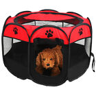 45 600D Oxford Portable Pet Puppy Soft Tent Playpen Dog Cat Folding Crate Red
