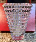 NEW Stunning Baccarat Oval Eye Crystal Vase w box Ribbon  Pamphlet