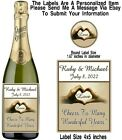 12 Hands Heart Wedding Day Engagement Party Wine Champagne Bottle Labels Sticker