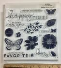 Close To My Heart S1904 LOVE SO SWEET Butterfly Flower Vine Border Stamp Set