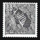 Apollo 11 First Man Walks on the Moon Walk Neil Armstrong Footprint Stamp MINT