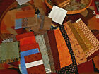 Big lot of cotton fabric neutral colors quilting Moda and Morris 5 squares