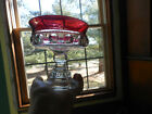 KINGS CROWN RUBY RED GLASS THUMBPRINT PEDESTAL/FOOTED COMPOTE CANDY DISH