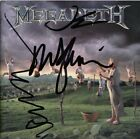 MEGADETH Youthanasia - DAVE MUSTAINE Marty Friedman Ellefson CD Autograph SIGNED