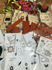 Huge Lot Stampin Up Retired Stamp Sets 20+ hey chick jolliest time of year ++