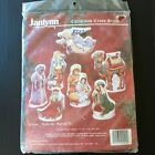 Christmas Nativity Counted Cross Stitch Figures Tabletop KIT 09 90 Janlynn NIP