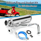 Chrome GY6 125CC 150CC Scooter High Performance Exhaust Muffler Pipe Slip On US