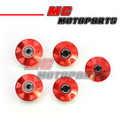 Red CNC Billet Frame Plugs Kit For Ducati 748 S / R / SP 1997-2002 98 99 00 01