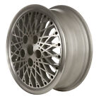 OEM Reman 15x6 Alloy Wheel Rim Flat Gray Silver Painted with Machined Face 1489