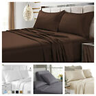 Luxury Flat Bed Sheets Egyptian Comfort 1900 Series Size Twin Full King Queen