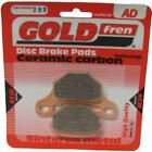 Brake Disc Pads Rear R/H Goldfren for 2009 Motorhispania RX 125 R
