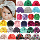 Baby Girls Kids Flower Bow Hair Band Turban Knot Beanie Hat Headband Headwrap