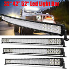 32 42 52INCH LED Light Bar Spot Flood Combo or Jeep Wrangler JK YJ CJ LJ TJ