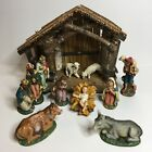 Vintage Nativity Set Manger Scene Figures Made In Italy Stable West Germany