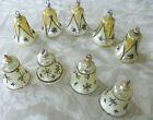Vintage Bell Shaped Glass Christmas Tree Ornaments from Austria