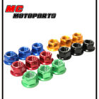 Rear Sprocket Nuts x6 For Aprilia RS 125 Tuono 03+ RS 50 Tuono