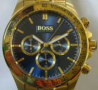 Phantastischer goldener Hugo Boss Chronograph - Herrenuhr - Tachymeter - Quarz
