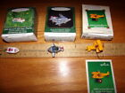 3 Hallmark Kiddie car Classics  biplane, flagship boat, pursuit plane