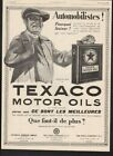 1925 TEXACO MOTOR ENGINE OIL CAR AUTO MEMORABILIA TEXAS CAN TIN FRENCH 21592