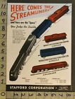 1946 TOY AD TRAIN RAILROAD CABOOSE STREAMLINER LOCOMOTIVE STAFFORD DETROIT TL88