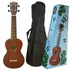 KIWAYA Soprano Size 12F Ukulele + Soft Case  NEW From JAPAN