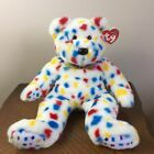 TY Beanie Babies Ty 2k Bear Confetti Plush Stuffed Animal Toy 1999 Retired 14
