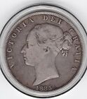 Sharp 1885 Young Head Half Crown 2 6d Sterling Silver Coin