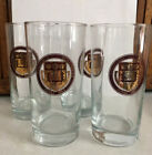 Boston College BC Vintage Set Mid Century MCM Drinking Glasses Tumblers Gold Red