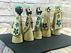 vintage paper mache nativity figurines Japan wise men mary joseph set of 5