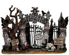 RETIRED NIB Lemax Spooky Town Figurine Village Halloween / Cemetery Gate