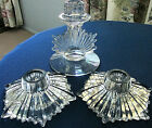 FOSTORIA FLAME CANDLE STICK HOLDER S FLAME pattern 3 Single Holders Clear RARE