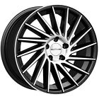 4 Sothis SC107 18x8 5x45 +35mm Black Machined Wheels Rims 18 Inch