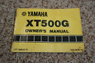 1980 Yamaha XT500 Owner's Manual, XT 500