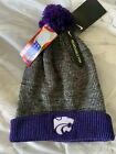 NIKE Kansas State Wildcats Cuffed Knit Hat Beanie Cap Removable Pom NEW  $30