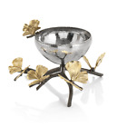 Michael Aram Butterfly Ginkgo Hand Textured Stainless Steel Nut Bowl Dish