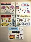 Creative Memories SIGHTSEEING USA  EUROPE BLOCK STICKERS Buy More  Save