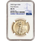 2020 American Gold Eagle 1 oz 50 NGC MS70 Early Releases