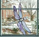 Stained Glass Dragonfly Suncatcher Mothers Day Gift Purple Dragonfly Ornament