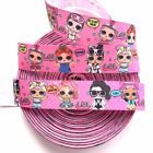 7 8 5 YARDS LOL Doll Girls Grosgrain Ribbon Bows Scrapbook Cards Crafts
