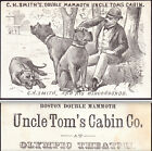 Uncle Toms Cabin 1882 Chicago Olympic Theater CH Smiths Bloodhound Trade Card