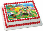 EDIBLE Animal Crossing Cake Topper Birthday Party Wafer Paper 1 4 Sheet 8x105