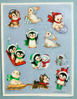 Christmas Stickers Adorable Cats Dogs Penguins Vtg Hallmark NEW