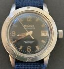 1968 Bulova Military 666 Sea Or Sky Diver. Made During Vietnam/Zodiac Seawolf.