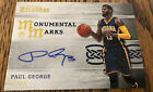 Paul George Auto 35 With Rookie Collection Jersey 08 399 Two Card Lot One Price