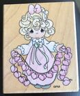 Stampendous Precious Moments Rubber Stamp SO MANY HEARTS Girl Holding Hearts