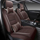 11pcs Car Seat Cover Protector Pu Leather Interior Cushion Front Rear Full Set