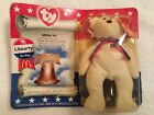 TY Beanie Baby Liberty The Bear McDonald's Toy American Trio1996