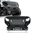 Angry Eye Front Bumper w Grill Guard  for Winch Plate Jeep Wrangler JK 07 18